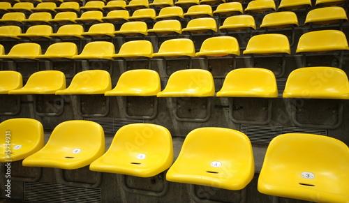 Leinwanddruck Bild stadion sitzreihe