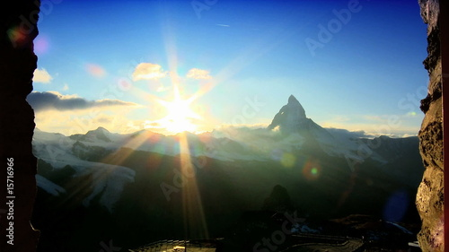 Time-Lapse Of The Matterhorn At Sunset