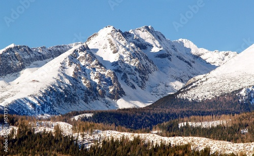 High Tatras Mountains in Winter