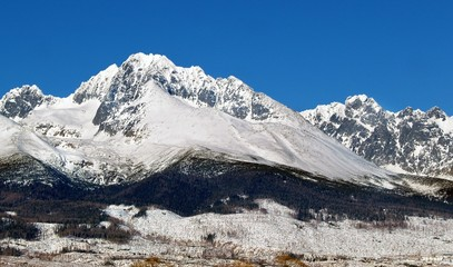 The Tatra Mountains in winter, Slovakia.