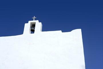 Balearic islands white church in Formentera