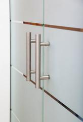 moderne glastür