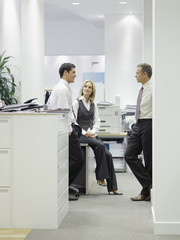 Three businesspeople in office