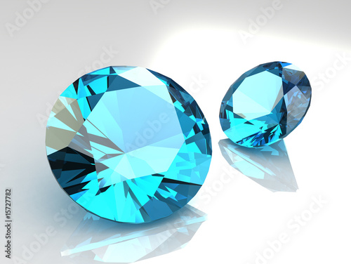 Pair of beautiful topaz stones
