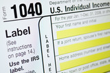 USA Individual income tax form poster
