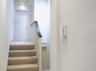 Front hallway of home with an intercom