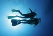 Taucher im freien Wasser|Divers in the water|