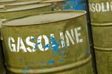 gasoline storage drums poster