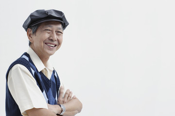 Man wearing hat smiling