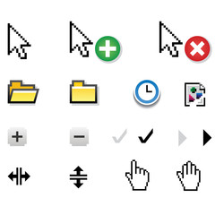 Different vector  pixel  icons