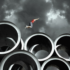 Long jumper on large cylinders