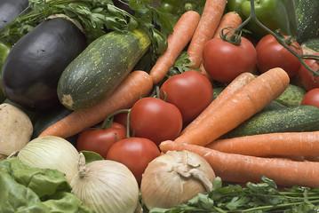 Fondo de verduras.