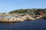 Island at the Norwegian coastline poster