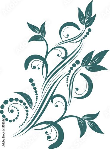 Keuken foto achterwand Vlinders in Grunge floral design element