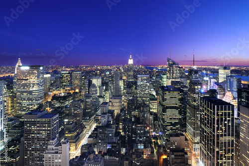 canvas print picture Manhattan at sunset