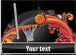 Basketball banner colored