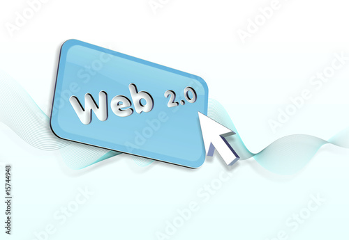 web 2.0 button and pointer