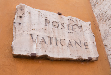Sign in the Vatican State