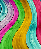 Multi-Colored Curved Planks Background