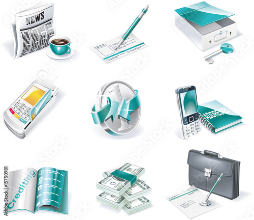 Vector banking icon set. Part 2