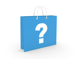 Shopping Bag on a white background (3D illustration)