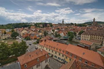 Blick über Bamberg mit Kirchen