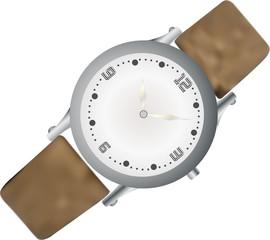 montre bracelet, vecteur