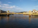 Pittsburgh bridges daytime. poster