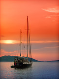 sunset in the Adriatic Sea poster