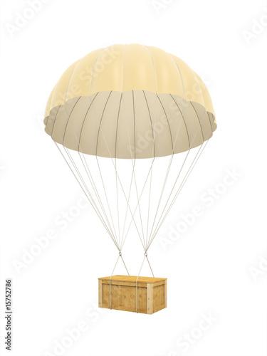 Leinwandbild Motiv box on parachute