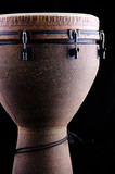 African Djembe Conga Drum On Black