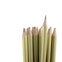 whole and broken pencils