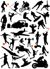 collection of sports vector 4