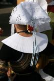 dentelle ,coiffe,coiffure,blanche,costume,folklore,breton poster