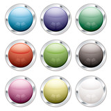 button candid silver poster