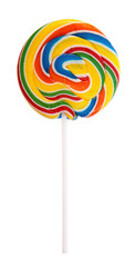 Colorful lollipop isolated on white background.