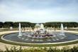 Leinwanddruck Bild - Bassin, fontaine et jardin de Versailles