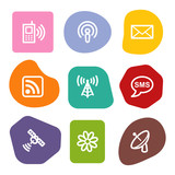 Communication web icons, colour spots series