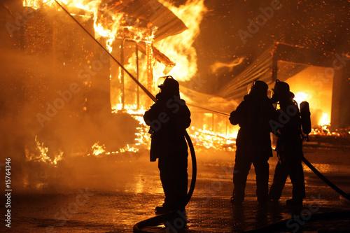 Leinwanddruck Bild Feuerwehr