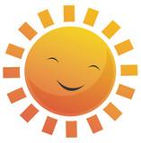 Cartoon Sun Face