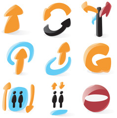 Smooth directions icons