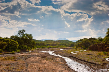 Landscape of a dry river