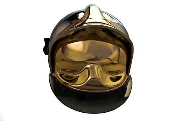 casque pompier face