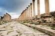 Säulen in den Ruinen der antiken Stadt Gerasa, Jordanien