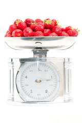 Strawberry on the scale