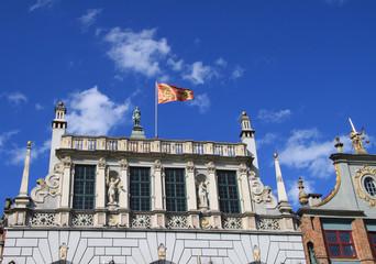 Historische Fassade in der Langgasse (Danzig)