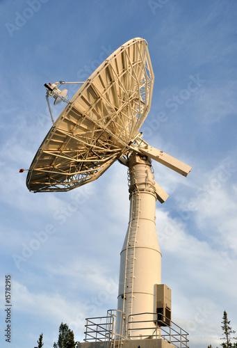 Leinwanddruck Bild Satellite Communications Dish