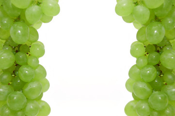Part of a framework from ripe grapes