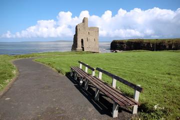 ballybunion castle ruin view