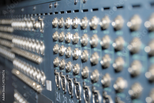 Studio xrl cables patch panel.